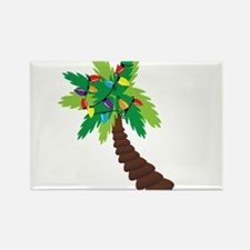 Christmas Palm Tree Rectangle Magnet