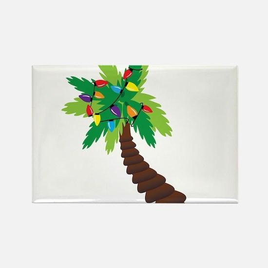 Christmas Palm Tree Rectangle Magnet