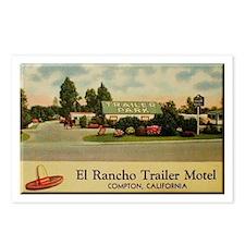 El Rancho Trailer Park Compton Postcards (Package