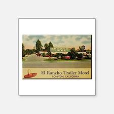 "El Rancho Trailer Park Compton Square Sticker 3"" x"