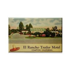 El Rancho Trailer Park Compton Rectangle Magnet