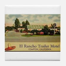 El Rancho Trailer Park Compton Tile Coaster