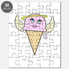 cute angel pink ice cream cone Puzzle