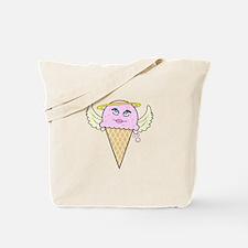 cute angel pink ice cream cone Tote Bag