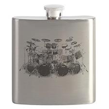 Drum Sketch Flask