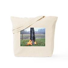 Gun For Morning Hunt Tote Bag