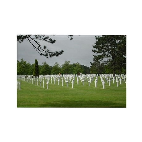 American Cemetery 2 Rectangle Magnet