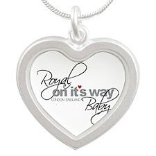 Royal Baby London England 2013 Silver Heart Neckla