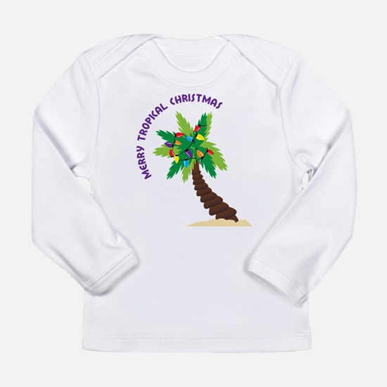 Merry Tropical Christmas Long Sleeve Infant T-Shir