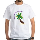 Kids merry tropical christmas Mens Classic White T-Shirts