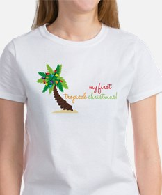 First Tropical Christmas Women's T-Shirt
