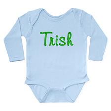Trish Glitter Gel Long Sleeve Infant Bodysuit
