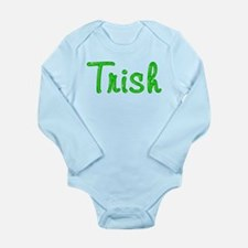 Trish Glitter Gel Long Sleeve Infant Bodysuit