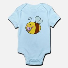 cute baby honey bee with pacifier cartoon Infant B