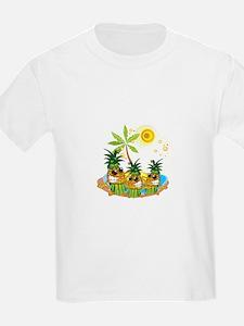 Sunglass Pineapple Trio T-Shirt
