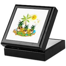 Sunglass Pineapple Trio Keepsake Box
