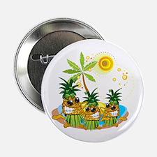 "Sunglass Pineapple Trio 2.25"" Button"