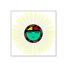 """Native American Sun God Square Sticker 3"""" x 3"""""""