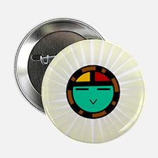 """Native American Sun God 2.25"""" Button"""