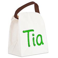 Tia Glitter Gel Canvas Lunch Bag