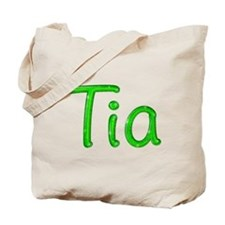 Tia Glitter Gel Tote Bag