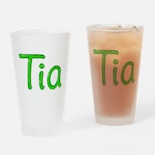 Tia Glitter Gel Drinking Glass