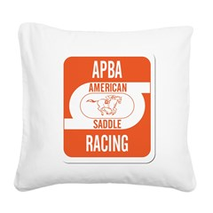 APBA Saddle Racing Card Square Canvas Pillow
