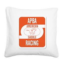 APBA Saddle Racing Card Square Canvas Pillow