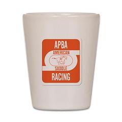 APBA Saddle Racing Card Shot Glass