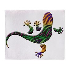 Cool Gecko 2 Throw Blanket
