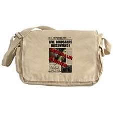 Live Dinosaurs Discovered ! Messenger Bag
