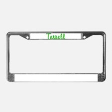 Terrell Glitter Gel License Plate Frame