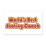 Worlds Best Skating Coach Rectangle Car Magnet