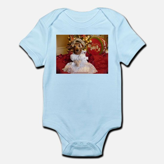 Dachshund Christmas angel Infant Bodysuit