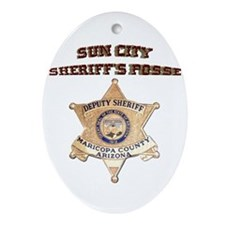 Sun City Sheriffs Posse Ornament (Oval)