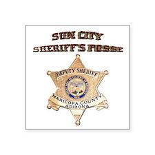 "Sun City Sheriffs Posse Square Sticker 3"" x 3"""