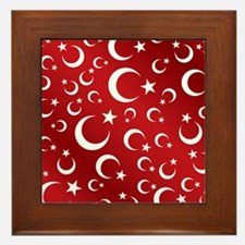 Turkish Flag Red Picture Frame Framed Tile