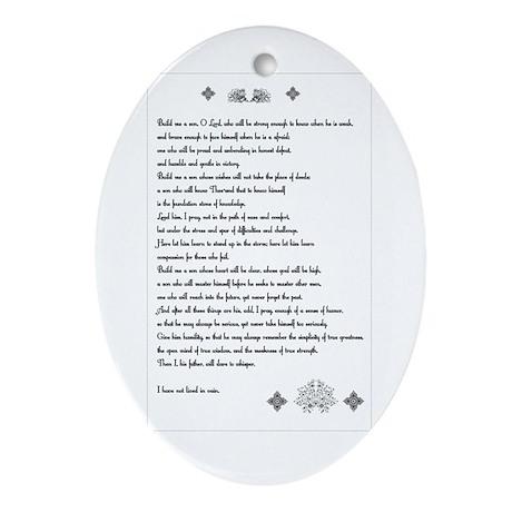 """Build me a son, O Lord..."" Oval Ornament"