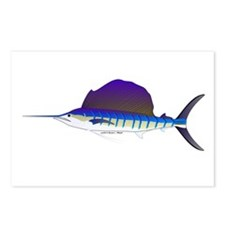 Sailfish fish Postcards (Package of 8)