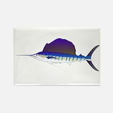 Sailfish fish Rectangle Magnet