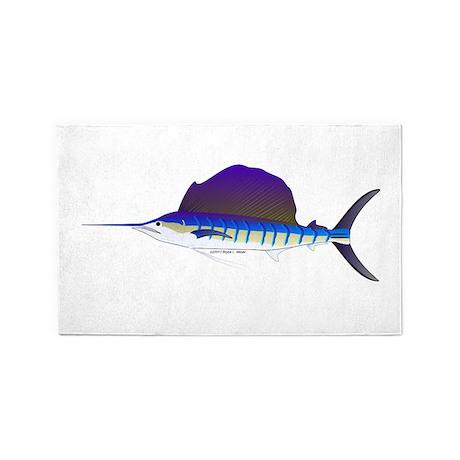 Sailfish fish 3'x5' Area Rug