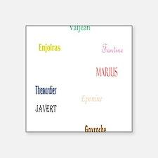 """Les Miserables Square Sticker 3"""" x 3"""""""