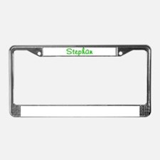 Stephan Glitter Gel License Plate Frame