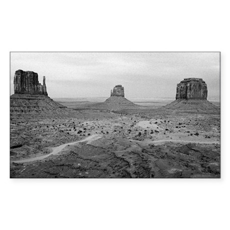 Monument Valley Black and White Sticker (Rectangle