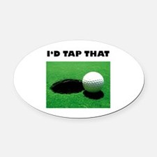 Id Tap That Oval Car Magnet