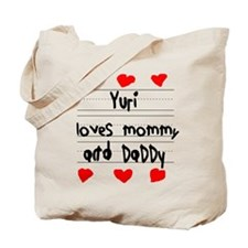 Yuri Loves Mommy and Daddy Tote Bag