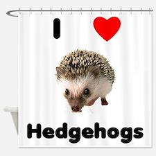 I Love Hedgehogs Shower Curtain