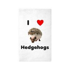 I Love Hedgehogs 3'x5' Area Rug