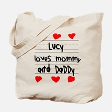 Lucy Loves Mommy and Daddy Tote Bag