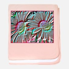 Daisies! Floral art, photo! baby blanket